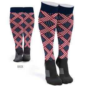 Printed Knee-High Socks - American Flag