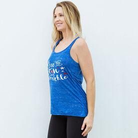 Running Flowy Racerback Tank Top - Free To Run And Sparkle (MRTT/SRTT)