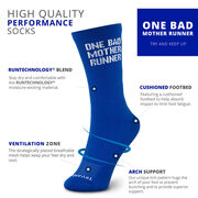 Socrates® Mid-Calf Performance Socks - One Bad Mother Runner