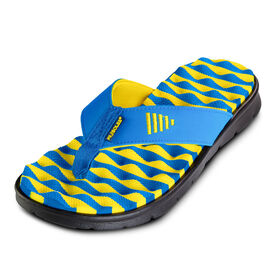 PR SOLES® Recovery Flip Flops (Blue/Yellow)