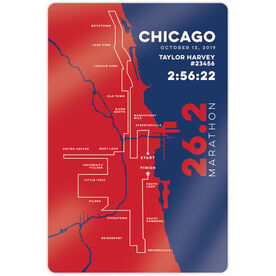 """Running 18"""" X 12"""" Wall Art - Chicago 26.2 Route"""