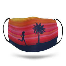 Running Face Mask - Runner Girl Sunset
