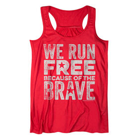 Flowy Racerback Tank Top - We Run Free