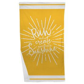 Running Beach Towel Run With Sunshine