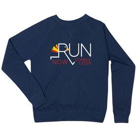 Running Raglan Crew Neck Sweatshirt - Let's Run Now Gobble Later