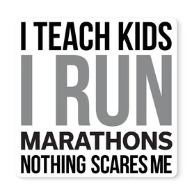 "Running 12"" X 12"" Removable Wall Tile - I Teach Kids I Run Marathons"