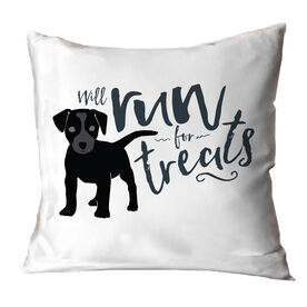 Will Run For Treats Throw Pillow