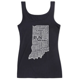 Women's Athletic Tank Top Indiana State Runner