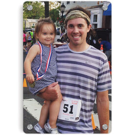 Running Metal Wall Art Panel - Custom Photo Portrait
