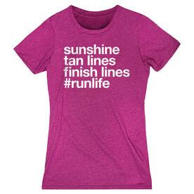 Women's Everyday Runners Tee - Sunshine Tan Lines Finish Lines