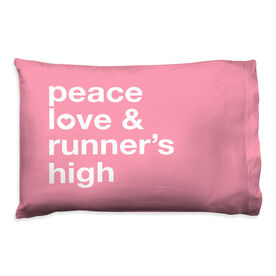 Running Pillow Case - Peace Love & Runner's High