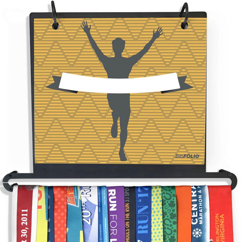 BibFOLIO+™ Race Bib and Medal Display Male Runner Personalized