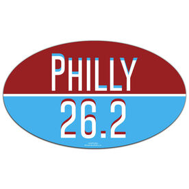 Philly 26.2 Oval Car Magnet