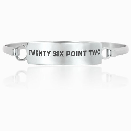 Running Engraved Clasp Bracelet Twenty Six Point Two