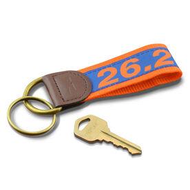 26.2 Marathon Runners Key Fob (Blue/Orange)