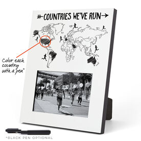 Running Photo Frame - Countries We've Run Outline