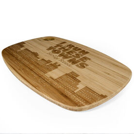 Rectangle Laser Engraved Bamboo Cutting Board I Run These Towns