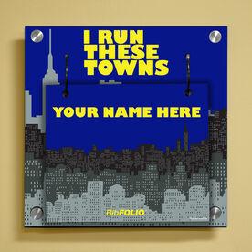 Personalized I Run These Towns (Cityscape) Wall BibFOLIO® Display