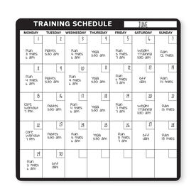"Running 12"" X 12"" Removable Wall Tile - Dry Erase Training Calendar"