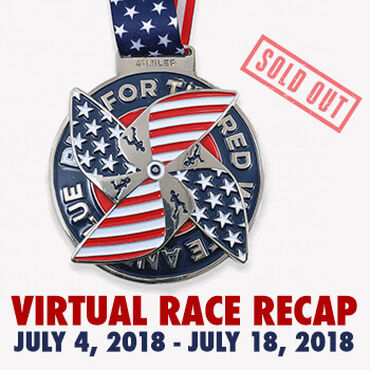 Virtual Race - Run For the Red White and Blue 4-Miler (2018)