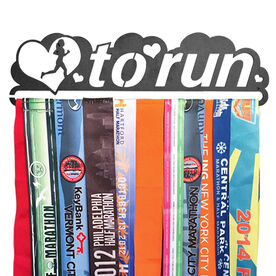 Race Medal Hanger Love To Run MedalART