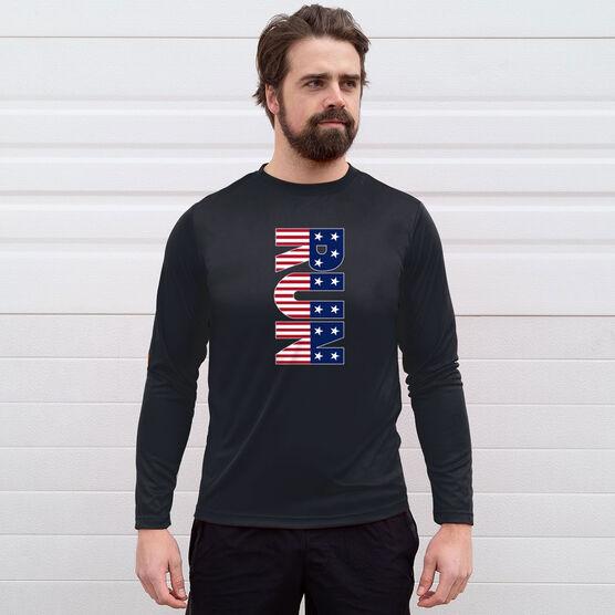 Men's Running Long Sleeve Tech Tee - Patriotic Run