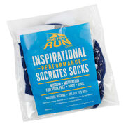 Socrates® Woven Performance Socks 26.2 You've Got This! (Navy)