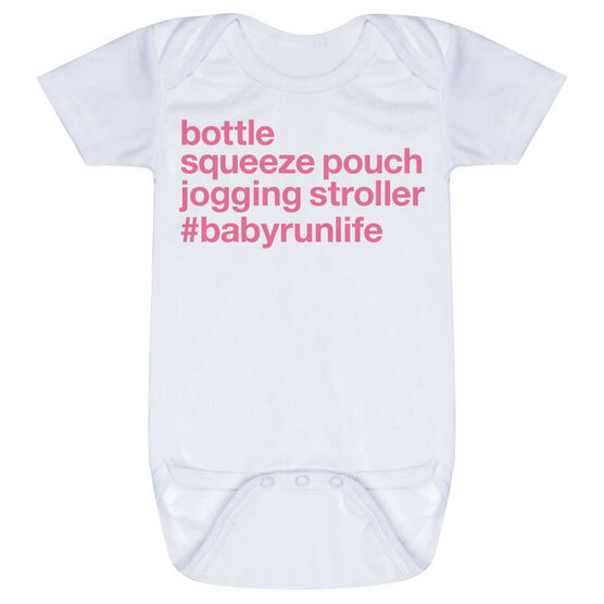 Running Baby One-Piece - Bottle Squeeze Pouch Jogging Stroller