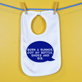 Born A Runner Baby Bib