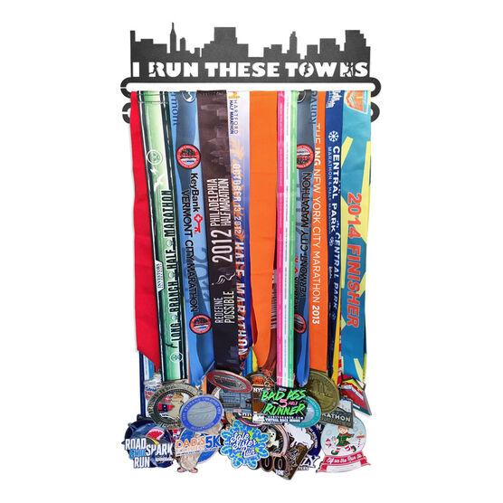 Race Medal Hanger I Run These Towns MedalART