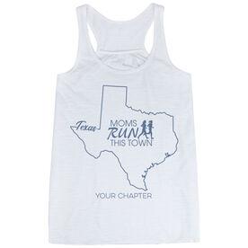 Flowy Racerback Tank Top - Moms Run This Town Texas Runner