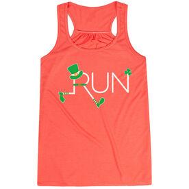 Running Flowy Racerback Tank Top - Let's Run Lucky