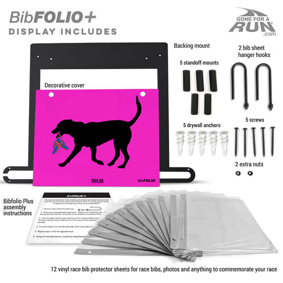 BibFOLIO+™ Race Bib and Medal Display Rex The Running Dog