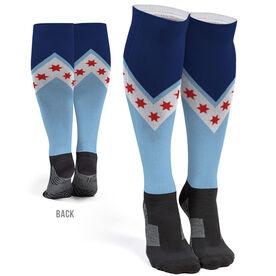 Running Printed Knee-High Socks - Chicago Stars