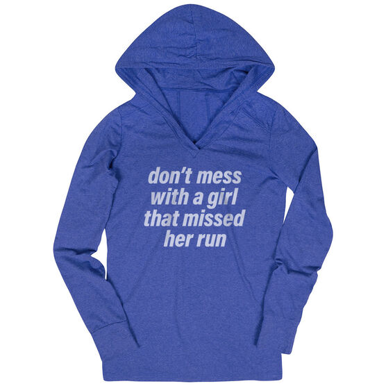 Women's Running Lightweight Performance Hoodie - Don't Mess With A Girl