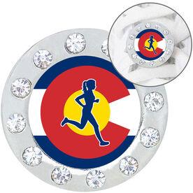Running Shoelace Charm - Colorado Runner Girl