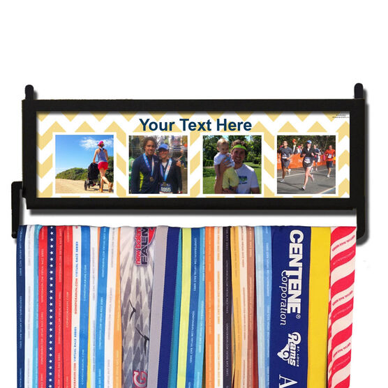 RunnersWALL Your Four Photos with Pattern Medal Display