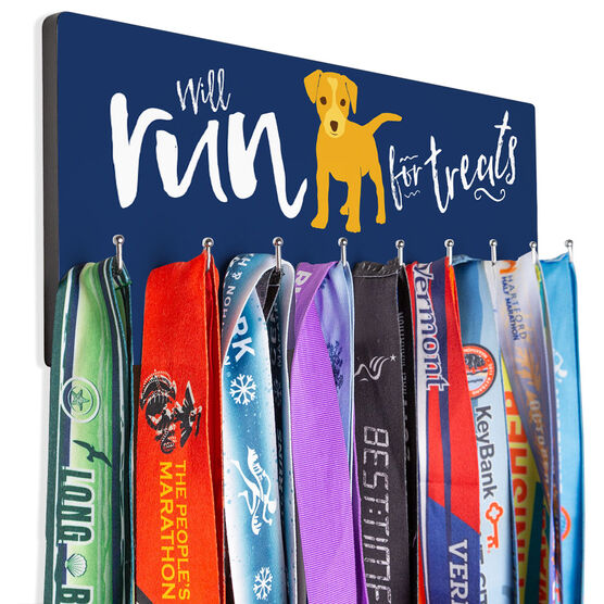 Running Hooked on Medals Hanger - Will Run For Treats