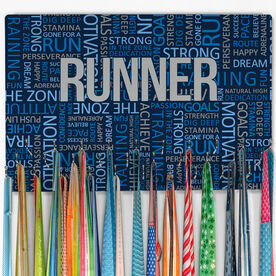Running Large Hooked on Medals Hanger - Running Inspiration