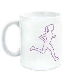 Running Coffee Mug - Female Runner Outline