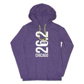 Women's Running Lightweight Hoodie - Chicago 26.2 Vertical
