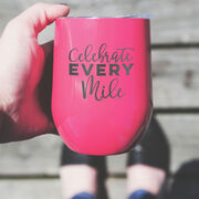 Running Stainless Steel Wine Tumbler - Celebrate Every Mile
