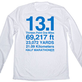 Men's Running Customized Long Sleeve Tech Tee 13.1 Math Miles