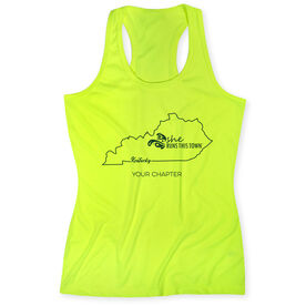 Women's Performance Tank Top - She Runs This Town Kentucky Runner