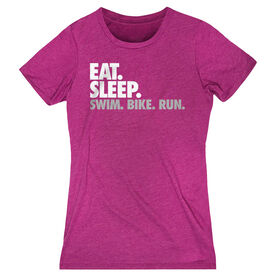 Women's Everyday Runners Tee Eat. Sleep. Swim. Bike. Run.