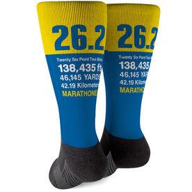 Running Printed Mid-Calf Socks - 26.2 Math Miles