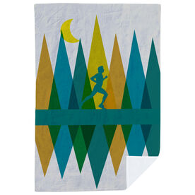 Running Premium Blanket - Geometric Mountains Male