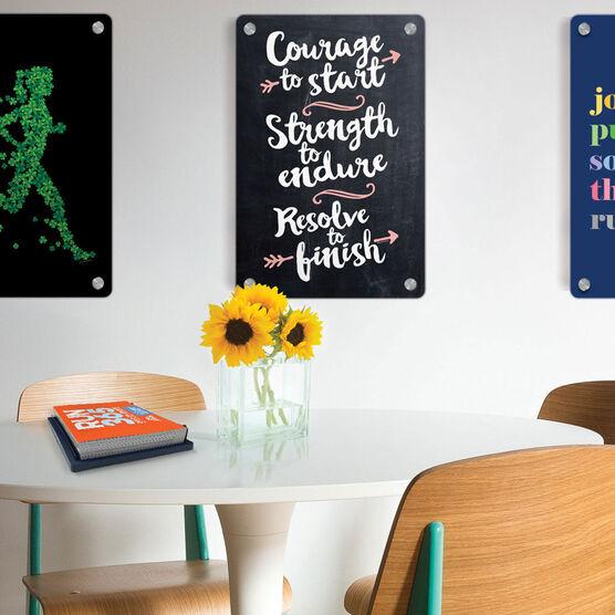 "Running 18"" X 12"" Wall Art - Chalkboard Courage To Start"