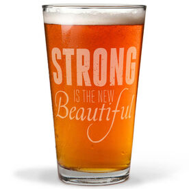 Running 20 oz Beer Pint Glass Strong Is The New Beautiful