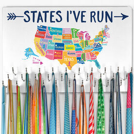 Running Large Hooked on Medals Hanger - States I've Run